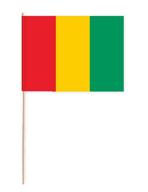 Guinea Papierfahne mit Holzstab