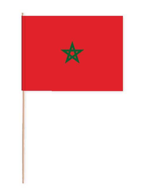 Marokko Papierfahne mit Holzstab