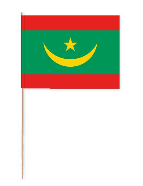 Mauretanien Papierfahne mit Holzstab