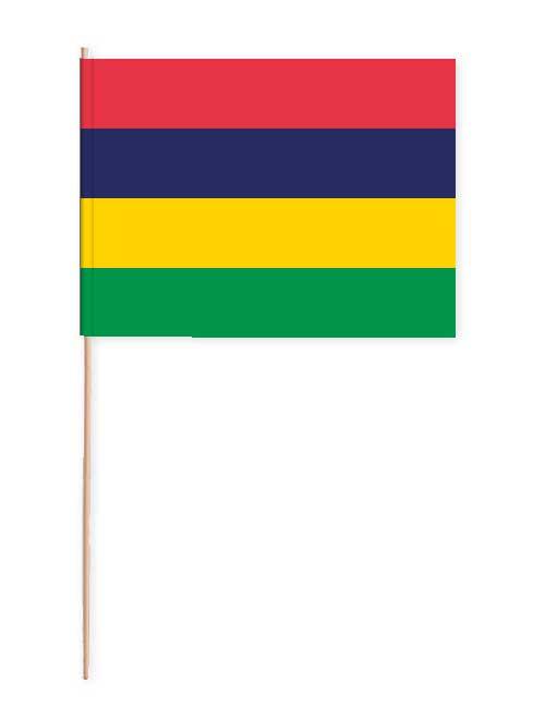 Mauritius Papierfahne mit Holzstab