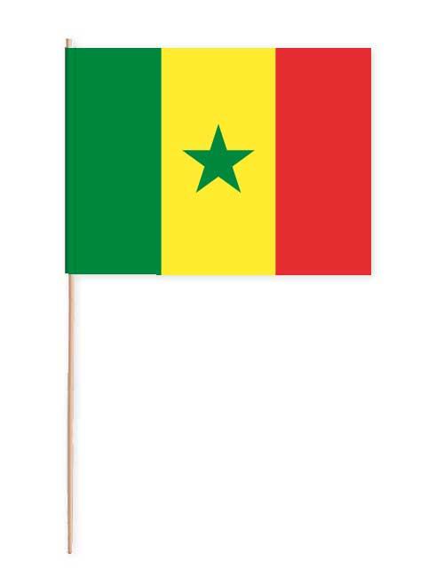 Senegal Papierfahne mit Holzstab
