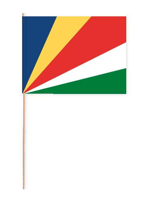 Seychellen Papierfahne mit Holzstab