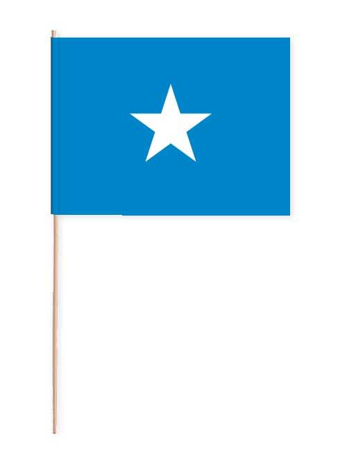 Somalia Papierfahne mit Holzstab