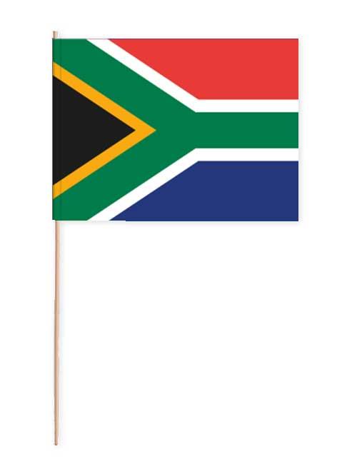 Südafrika Papierfahne mit Holzstab