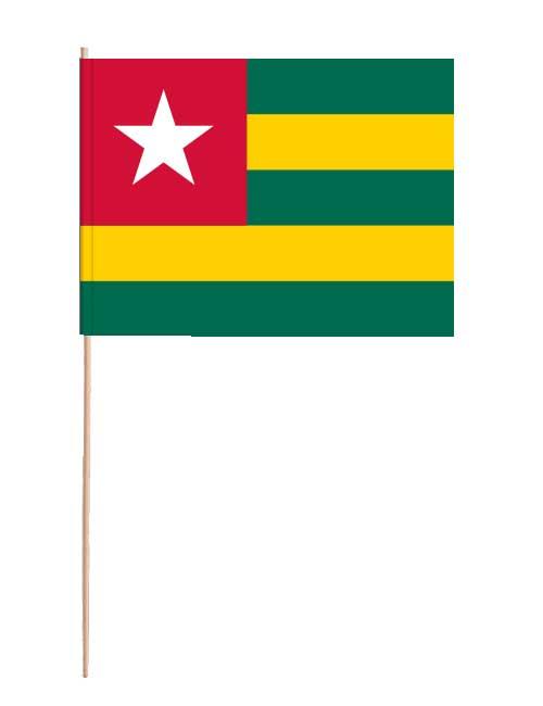 Togo Papierfahne mit Holzstab