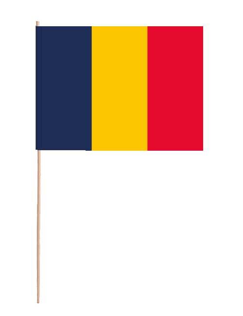 Tschad Papierfahne mit Holzstab