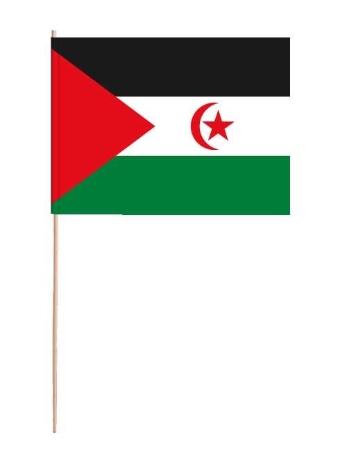 Westsahara Papierfahne mit Holzstab