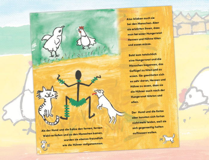 Innenseiten des Afrika Märchen - Ein Märchen aus Togo