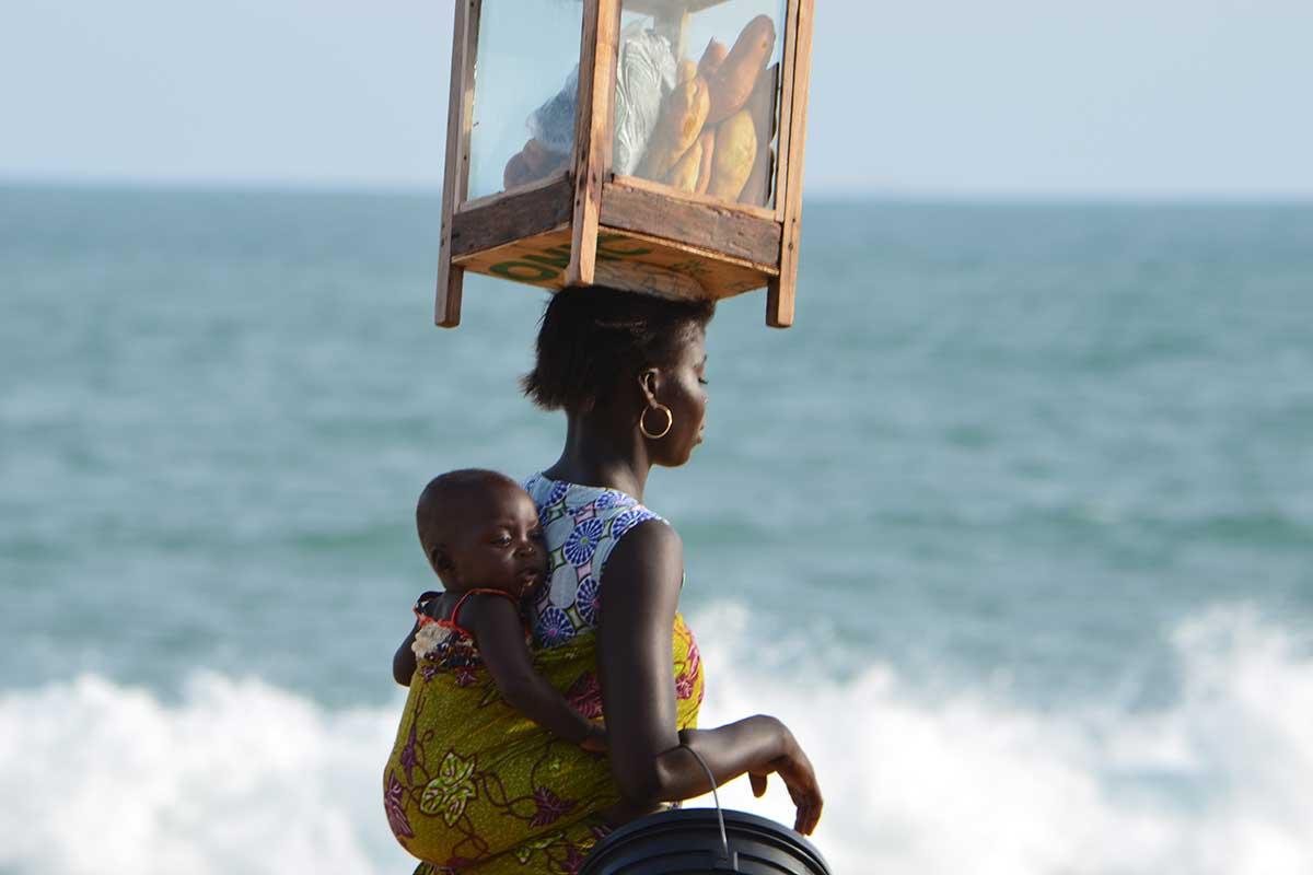 Am Atlantik in Lome