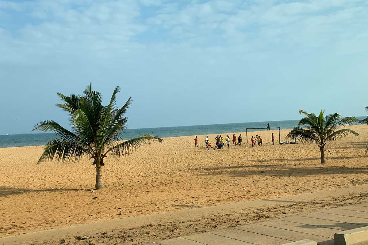 Am Strand in Lome