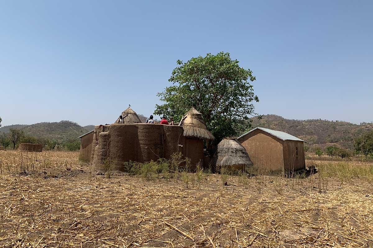 Ein Tata: eine traditionelle Lehmburg in Togo