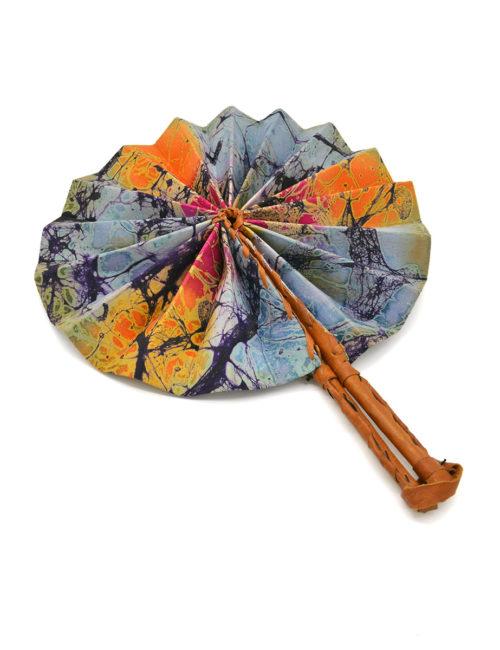 Batik-Fächer - offen