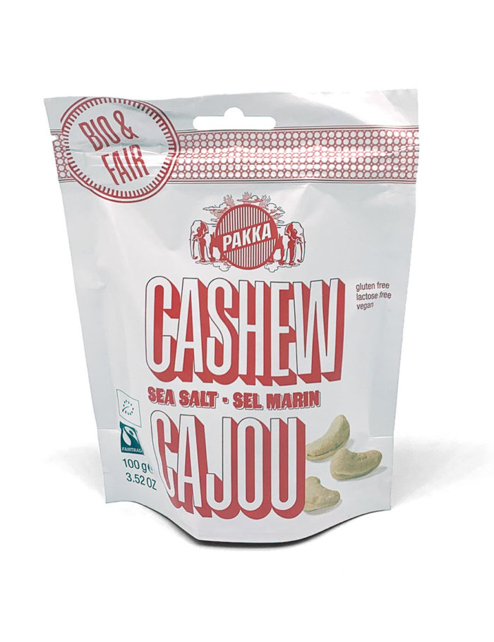 Cashew-Nüsse mit der Geschmacksrichtung Meersalz