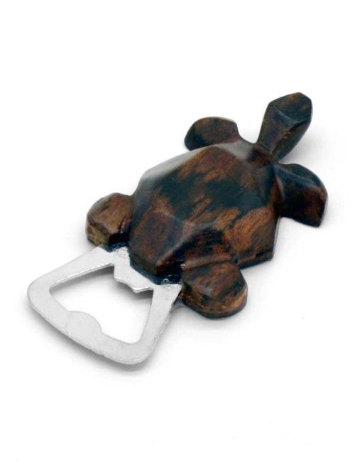 Flaschenöffner in Form einer Schildkröte, handgeschnitzt