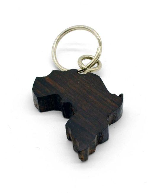 Schlüsselanhänger in der Form von Afrika