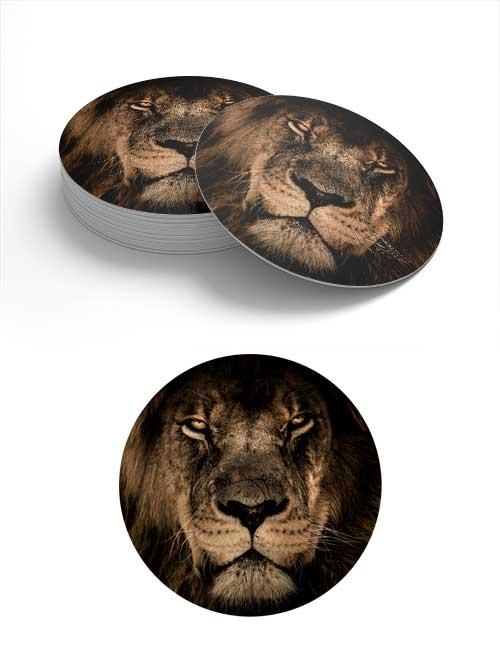 Löwen-Bierdeckel
