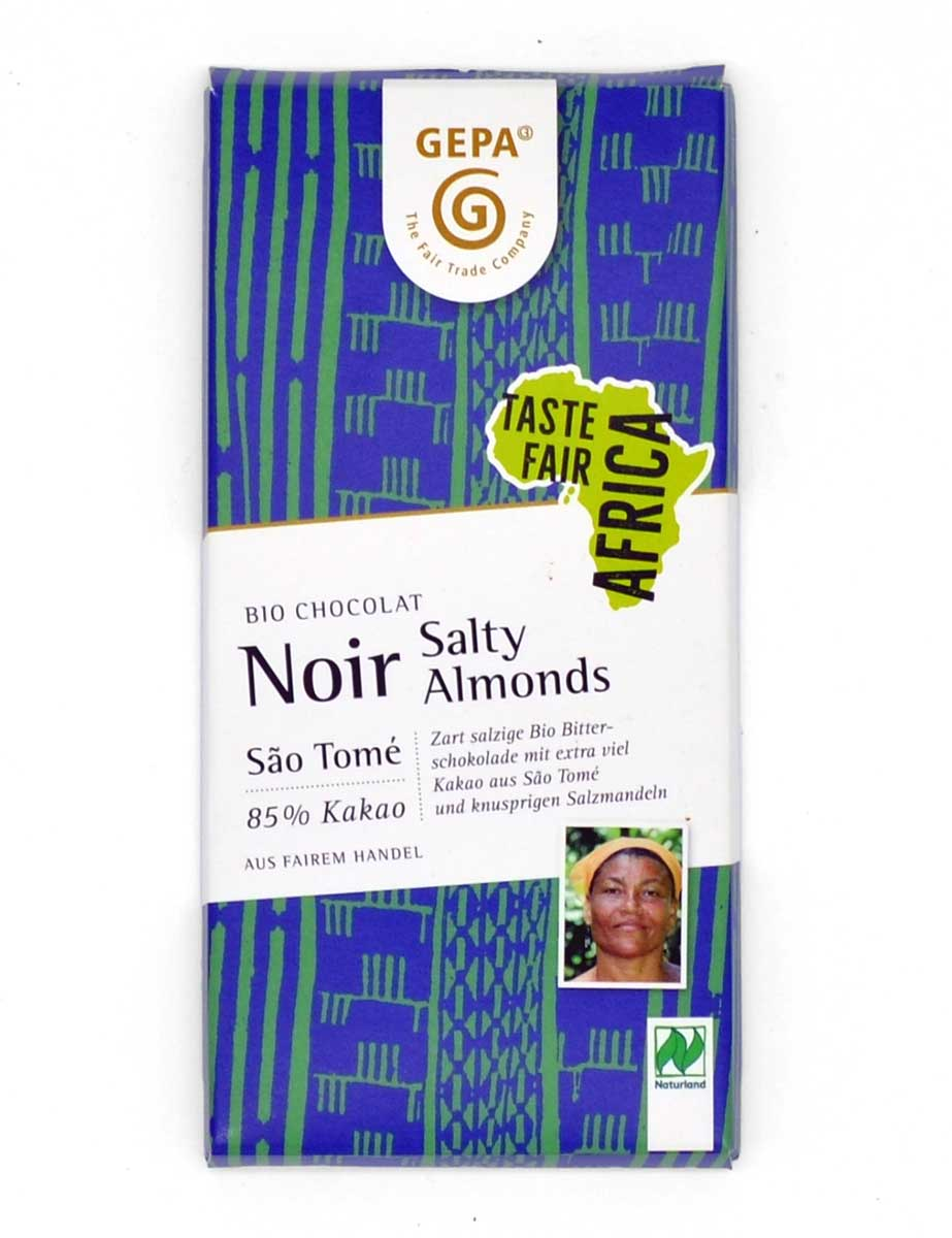 Bio-Schokolade - Noir Salty Almonds