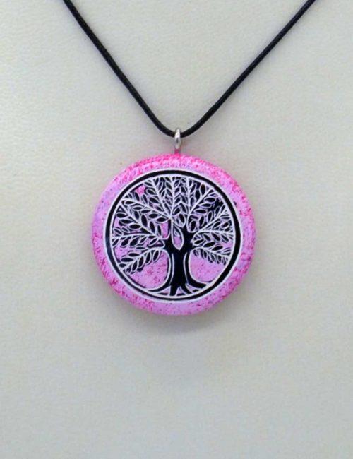 Lebensbaum-Kette in Pink aus Kenia