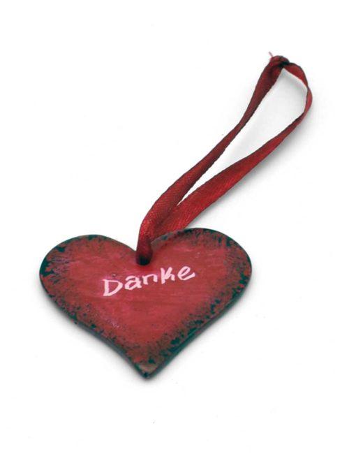 Herz-Anhänger aus Speckstein - Danke