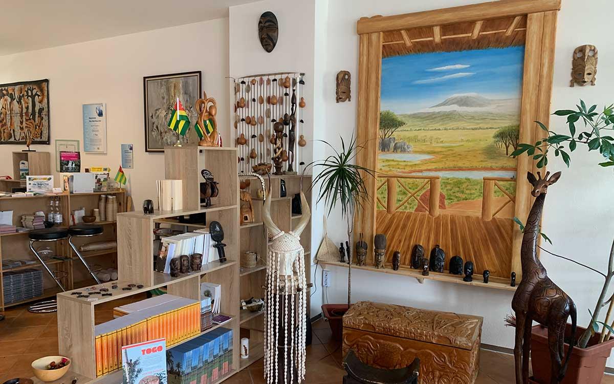 Der Afrika-Laden von Innen
