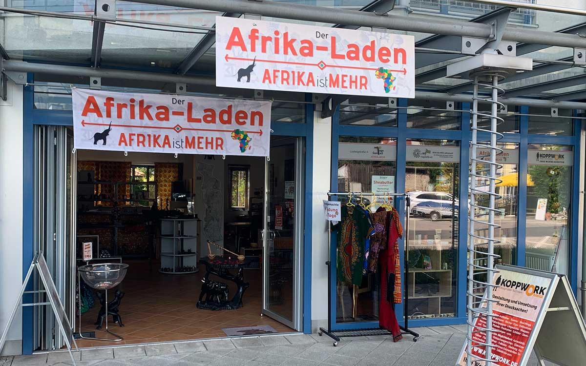 Der Afrika-Laden von aussen