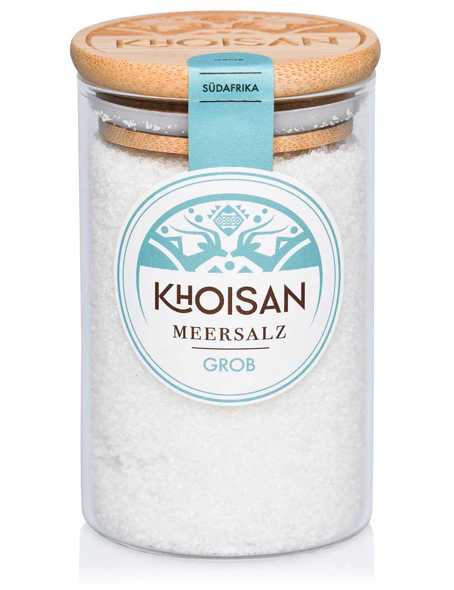 Khoisan Meersalz Grob im großen Glas