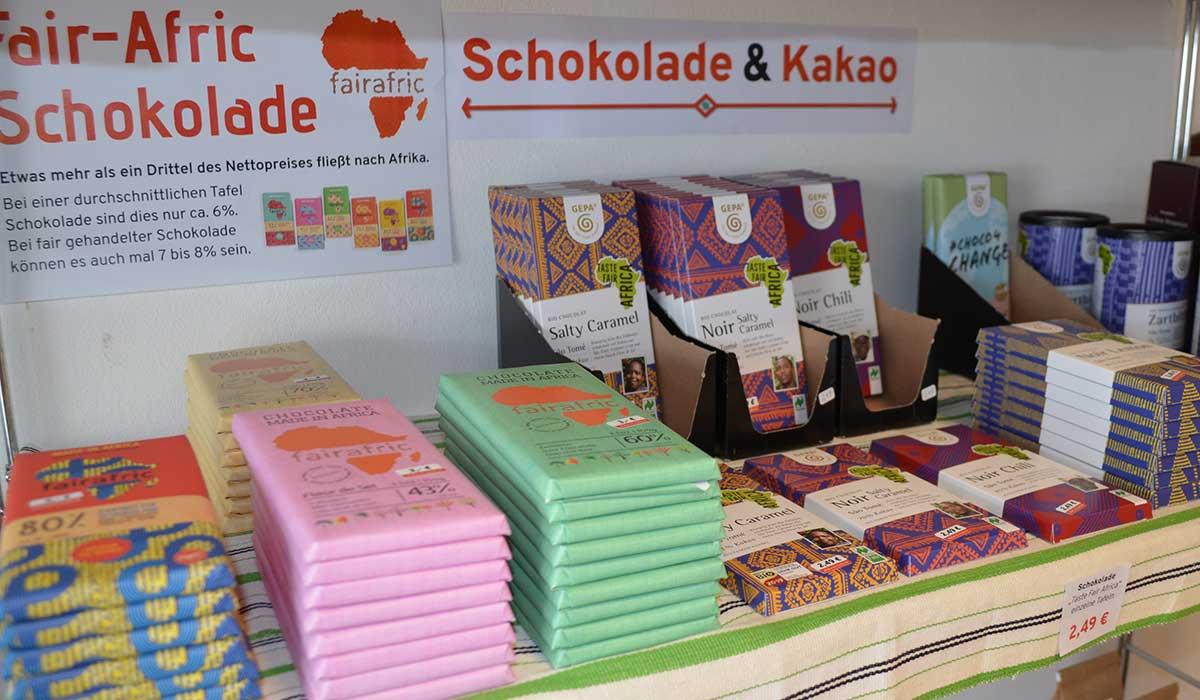 Schokolade & Kakao im Afrika-Laden
