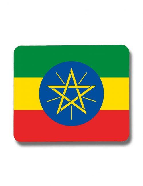 Äthiopien-Mousepad mit der Fahne von Äthiopien