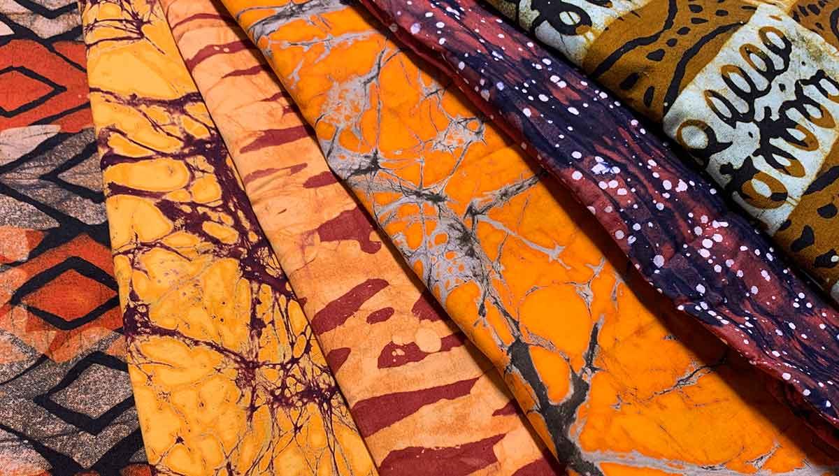 Batik-Stoffe aus Afrika