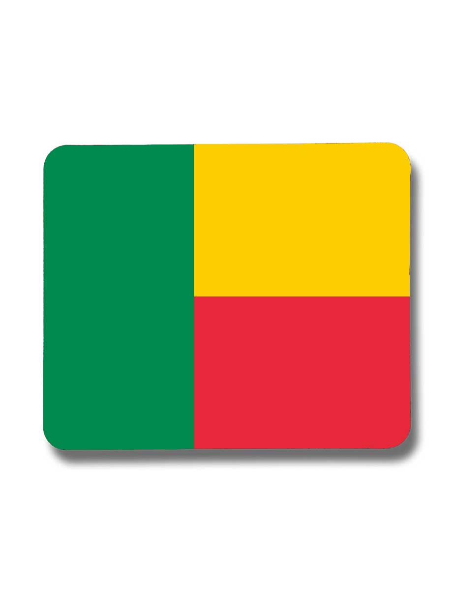 Benin-Mousepad mit der Fahne von Benin