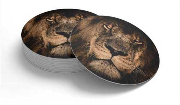 Bierdeckel Löwe rund