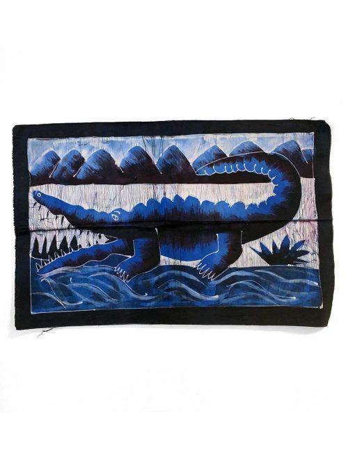 Batik Wandbehang - Krokodil