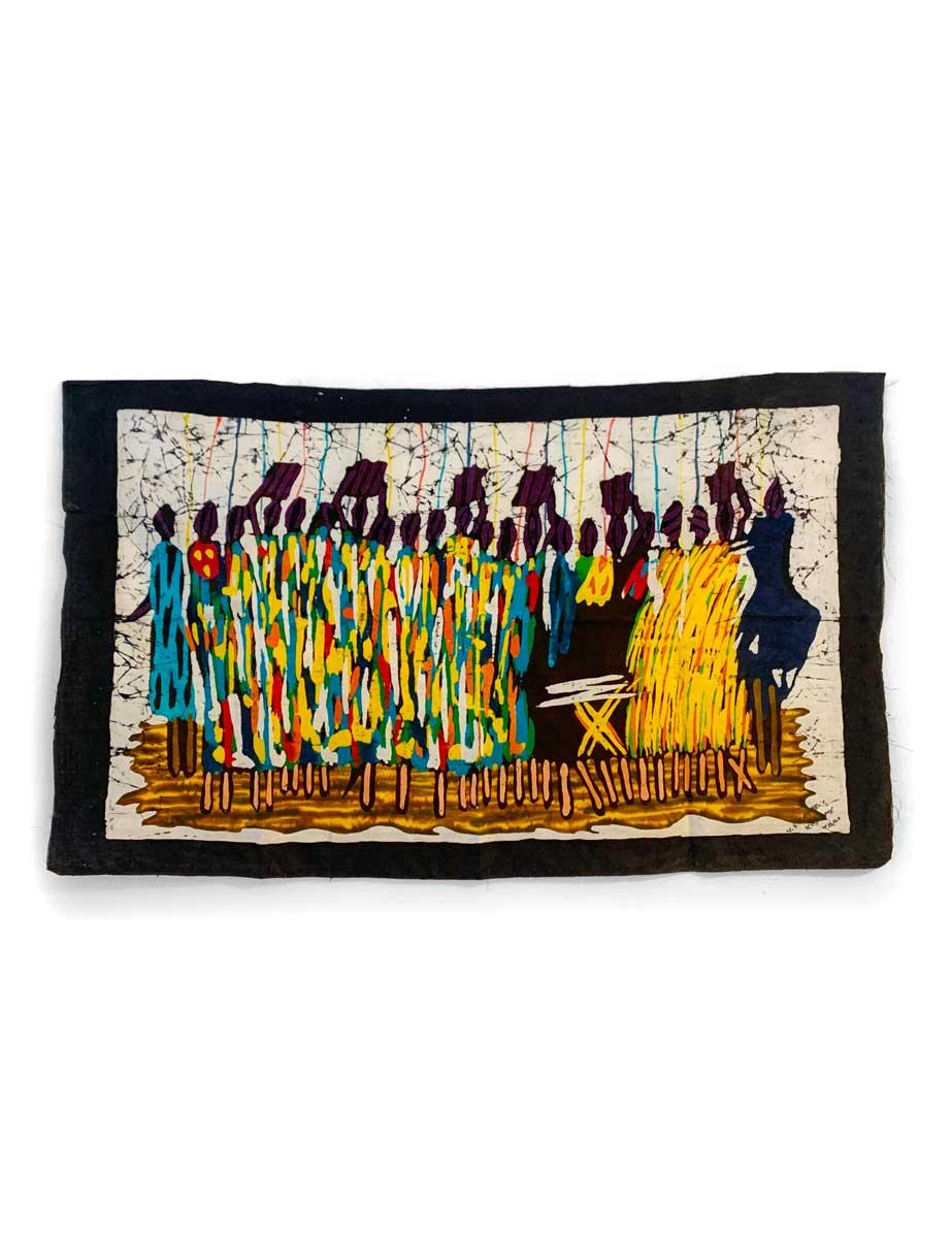 Batik-Wandbehang - Wasserträger