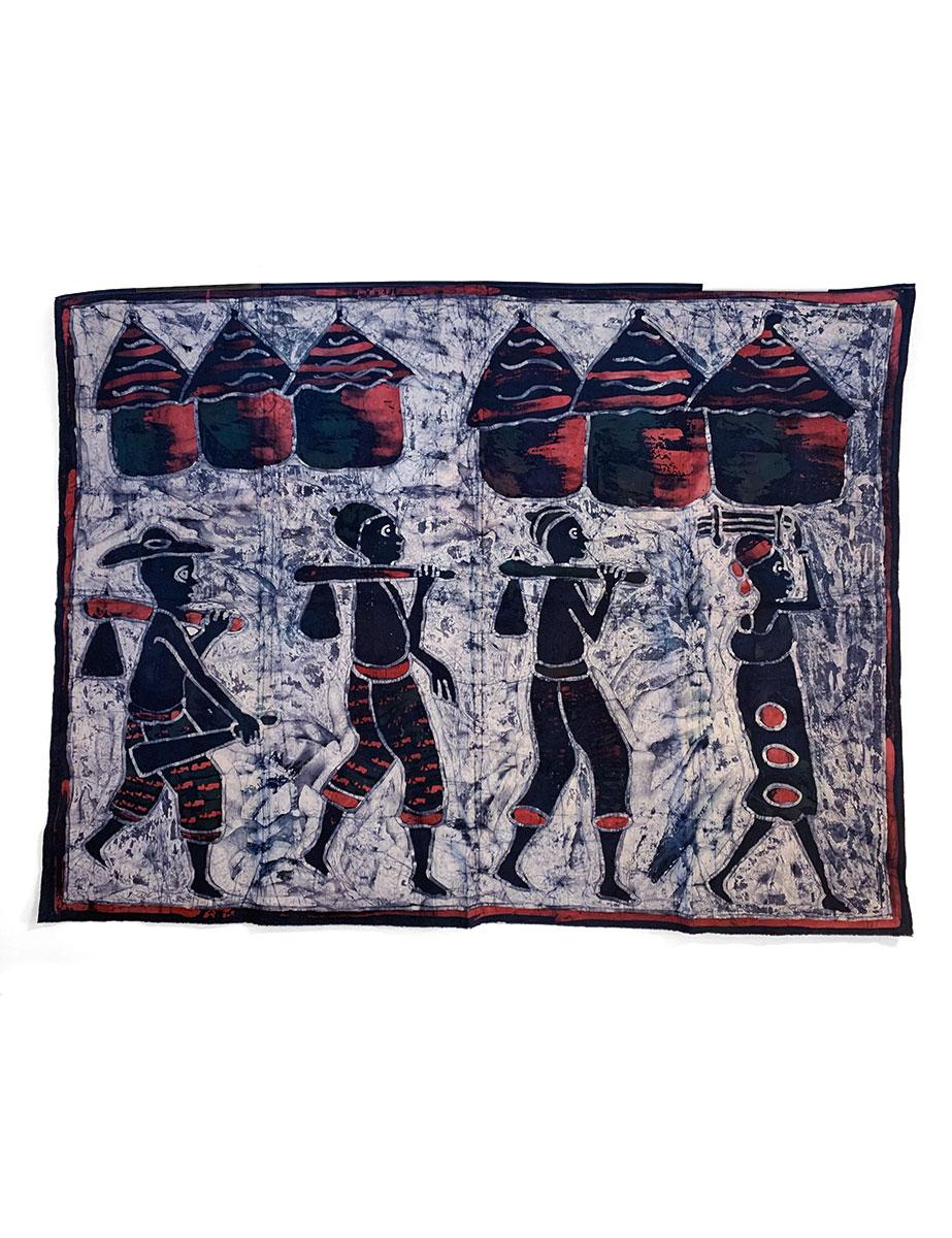 Batik-Wandbehang - bei der Arbeit