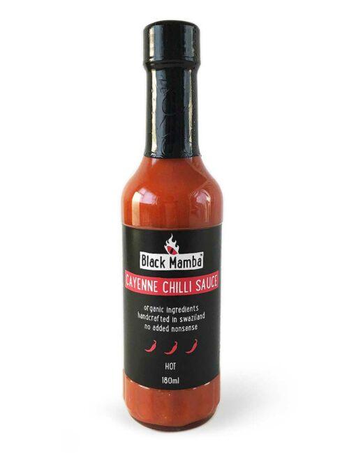 Die Cayenne-Chilli-Sauce von Black Mamba