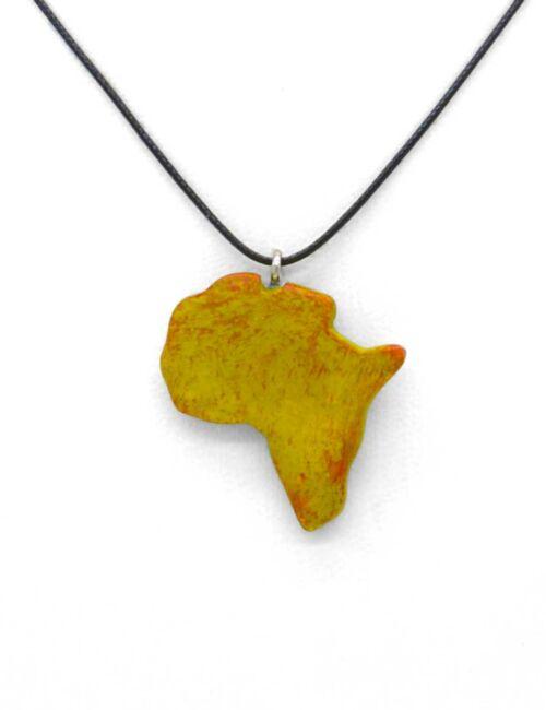 Afrika-Halskette gelb