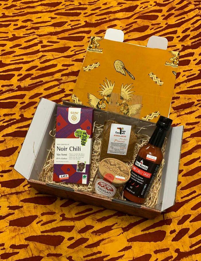 Die afrikanische Chili-Geschenkbox