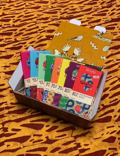 Die große FairAfric Schokolade-Geschenkbox