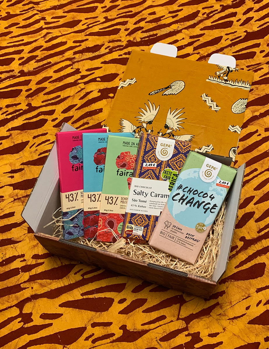 Vollmilchschokolade-Geschenkbox