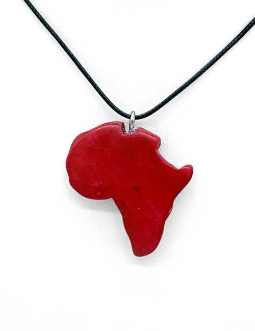 Afrika-Halskette Hellrot